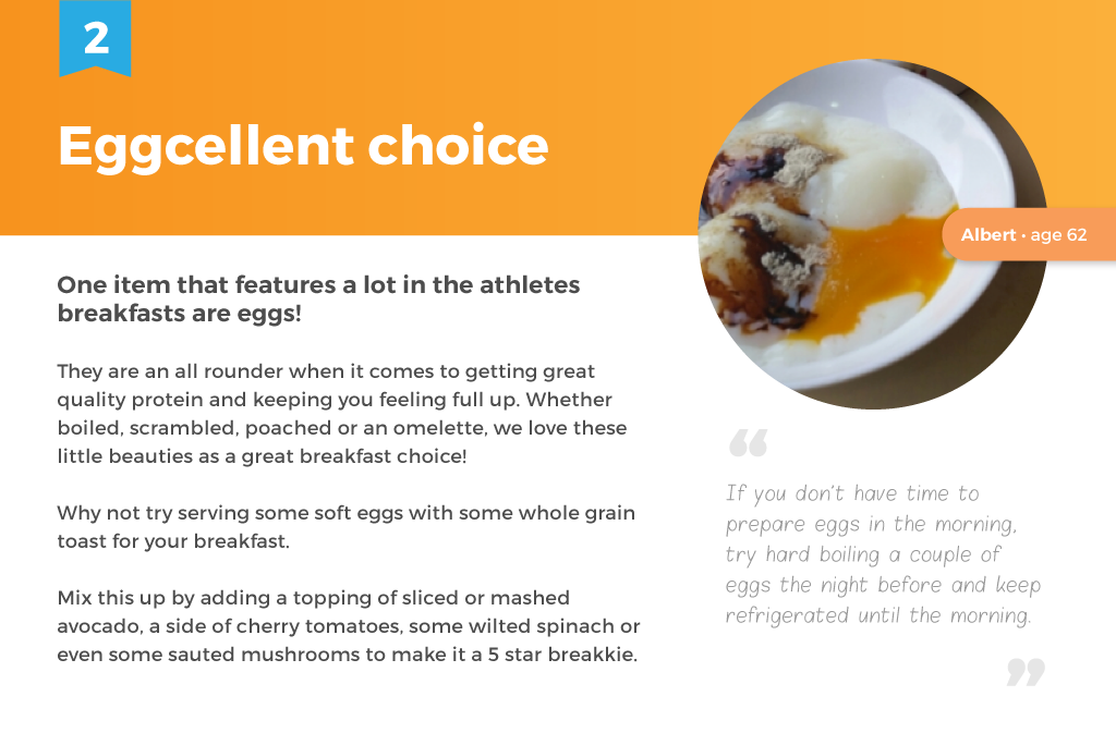 Soft boiled eggs for healthy breakfasts