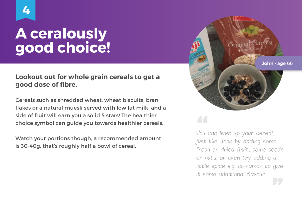 whole grain cereal- healthy breakfasts