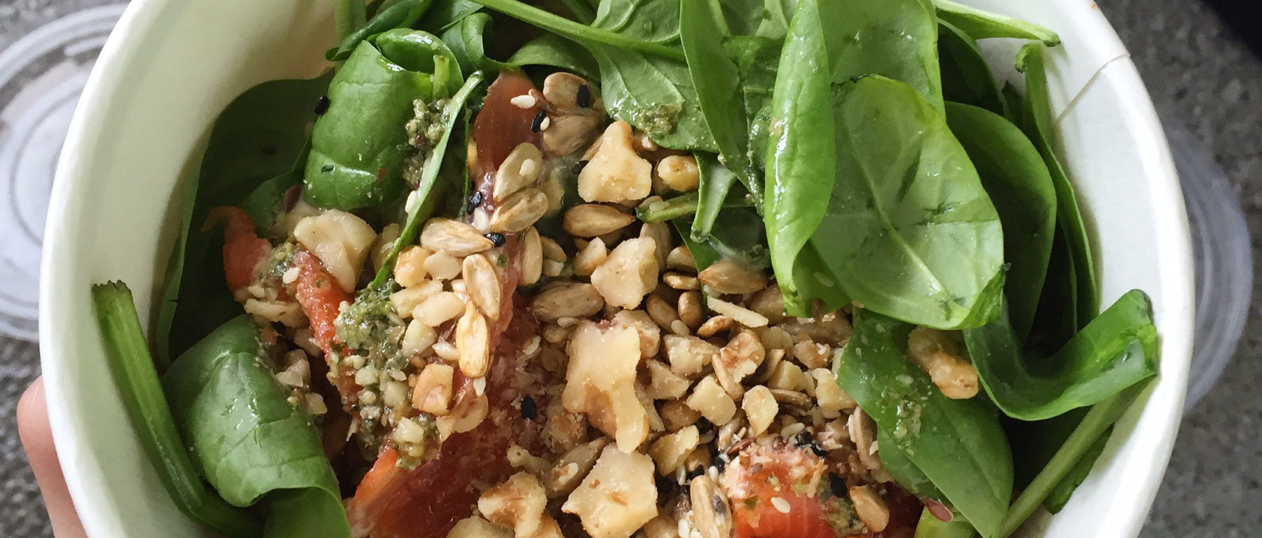 Salad and healthy rice bowl with salmon
