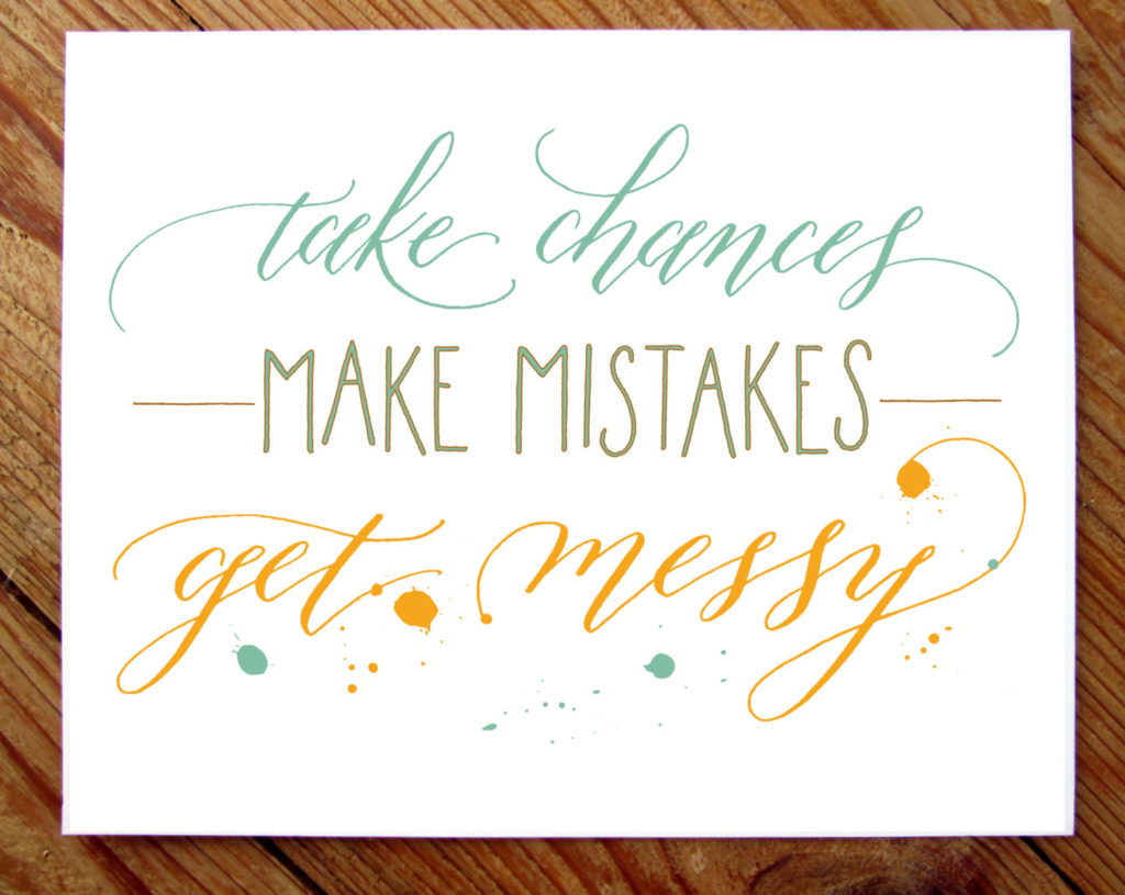 A weight loss journey requires you to take chances, make mistakes, and get messy.