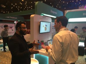 GlycoLeap's Chief Product Officer, Waqas Awan (Left), sharing about GlycoLeap