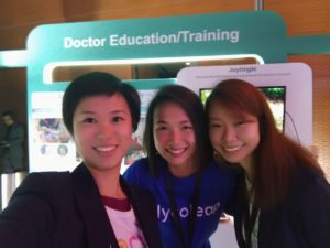 Left to right: Esther Wang, Strategy & Product Development Lead (Joytingle), Jasmine Kwan, Dietitian (GlycoLeap), Vivianne Tay, Medical Research & Clinical Lead (Joytingle)