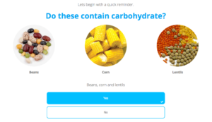 food groups quiz glycoleap lessons