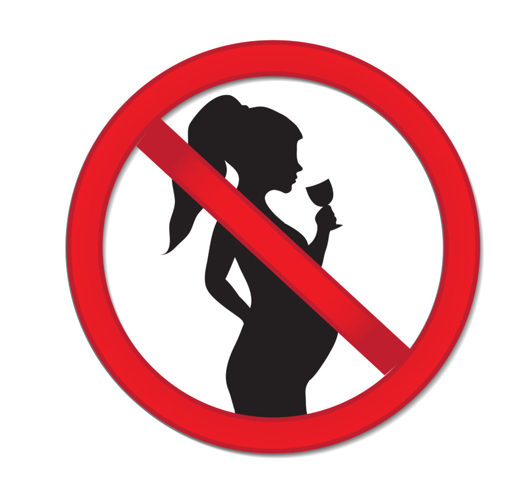 No alcohol in pregnancy